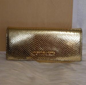 Michael Kors Jet Set Travel Gold Clutch Wallet